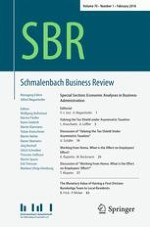 Schmalenbach Business Review 1/2018
