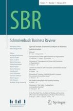 Schmalenbach Business Review 1/2019