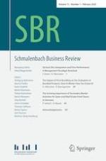 Schmalenbach Business Review 1/2020