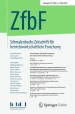Schmalenbachs Zeitschrift für betriebswirtschaftliche Forschung 1-2/2018