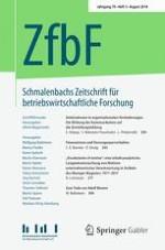 Schmalenbachs Zeitschrift für betriebswirtschaftliche Forschung 3/2018