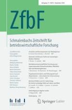 Schmalenbachs Zeitschrift für betriebswirtschaftliche Forschung 4/2020
