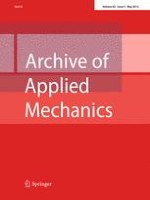 Archive of Applied Mechanics 5/2012