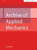 Archive of Applied Mechanics 11/2016