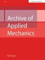 Archive of Applied Mechanics 12/2016