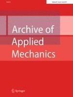 Archive of Applied Mechanics 6/2017