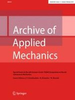 Archive of Applied Mechanics 1-2/2018