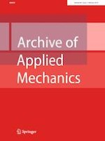 Archive of Applied Mechanics 2/2019