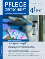 Pflegezeitschrift 4/2017