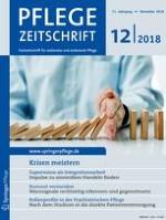Pflegezeitschrift 12/2018