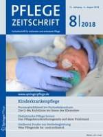 Pflegezeitschrift 8/2018