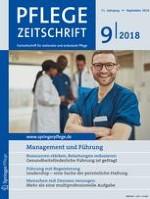 Pflegezeitschrift 9/2018