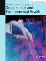 International Archives of Occupational and Environmental Health 8/2019