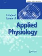 European Journal of Applied Physiology 2/2009