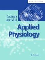 European Journal of Applied Physiology 4/2010