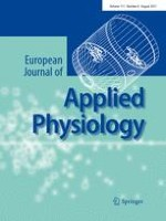 European Journal of Applied Physiology 8/2011
