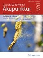 Deutsche Zeitschrift für Akupunktur 1/2012