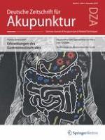 Deutsche Zeitschrift für Akupunktur 4/2018