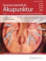 Deutsche Zeitschrift für Akupunktur 1/2021