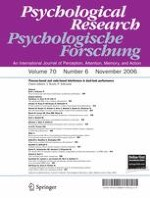 Psychological Research 6/2006