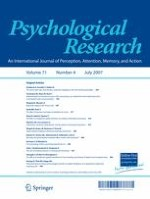 Psychological Research 4/2007