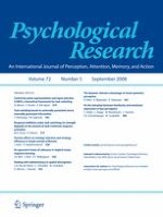 Psychological Research 5/2008