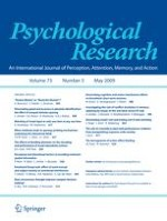Psychological Research 3/2009