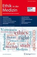 Ethik in der Medizin 1/2012