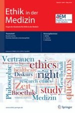 Ethik in der Medizin 1/2015