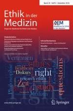 Ethik in der Medizin 4/2016