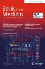 Ethik in der Medizin 2/2017