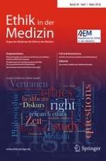 Ethik in der Medizin 1/2018