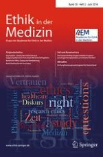 Ethik in der Medizin 2/2018