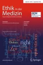 Ethik in der Medizin 3/2018