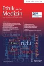 Ethik in der Medizin 4/2018