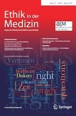 Ethik in der Medizin 1/2019
