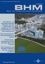 BHM Berg- und Hüttenmännische Monatshefte 8/2013