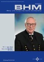 BHM Berg- und Hüttenmännische Monatshefte 8/2017