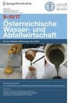 Österreichische Wasser- und Abfallwirtschaft 9-10/2017