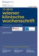 Wiener klinische Wochenschrift 17-18/2012