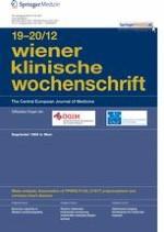 Wiener klinische Wochenschrift 19-20/2012
