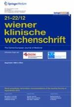 Wiener klinische Wochenschrift 21-22/2012