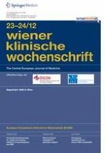 Wiener klinische Wochenschrift 23-24/2012