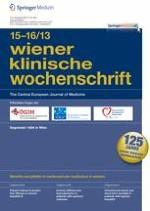 Wiener klinische Wochenschrift 15-16/2013