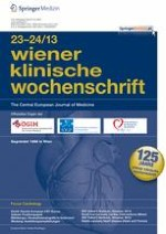 Wiener klinische Wochenschrift 23-24/2013