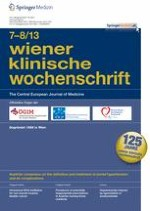 Wiener klinische Wochenschrift 7-8/2013