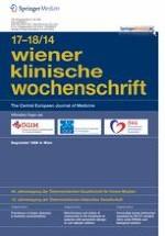 Wiener klinische Wochenschrift 17-18/2014