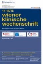 Wiener klinische Wochenschrift 17-18/2015