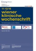 Wiener klinische Wochenschrift 11-12/2016