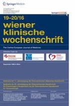 Wiener klinische Wochenschrift 19-20/2016